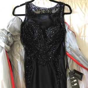 Gorgeous black prom dress